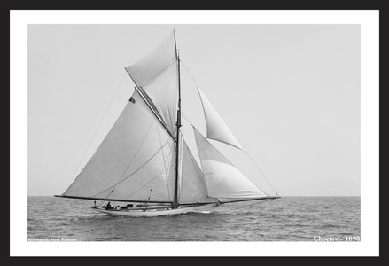 Vintage Sailboats - Choctaw 1890 - Art Prints  for Home & Office Interiors