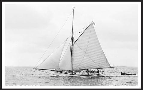 Vashti Late 1800s - Vintage Sailboat art print restoration for Interior Design