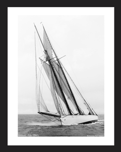 Emerald - late 1890's NYYC cruise -Vintage sailing photography art print restoration