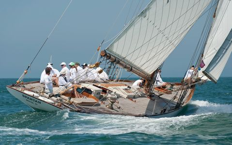 Classic Sailboat Spartan, NY50 at the Opera House Cup 2015 in Nantucket, MA