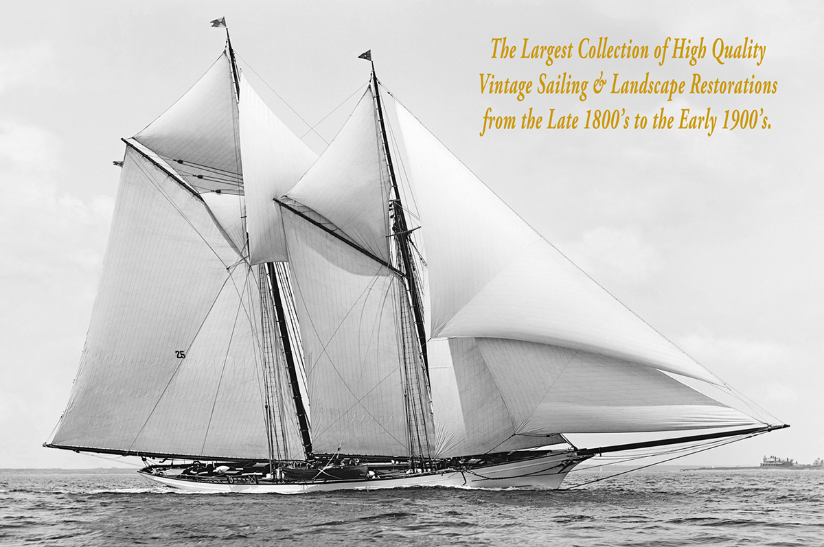 Merlin -1891 Vintage Sailing Restoration Art Print