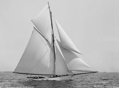 Mariquita 1890 - Vintage Restored Sailing Art Print