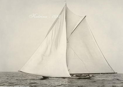 Katrina 1892 - Vintage Restored Sailing Art Print