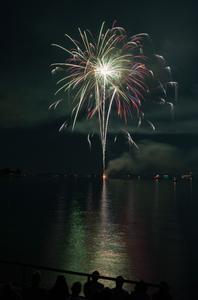 Beverly Fireworks Homecoming Festivities celebration art print for interior decoration