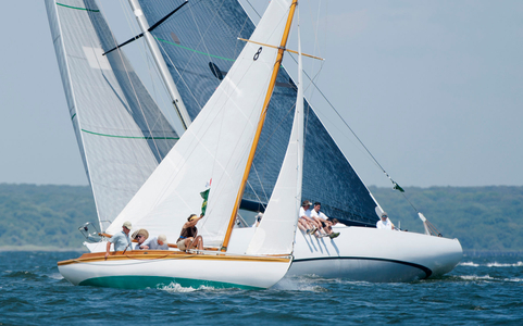 S Class Osprey and 12 Metre Intrepid Racing in Newport, RI
