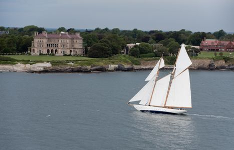 Schooner Naema at the Candy Store Cup Newport, RI