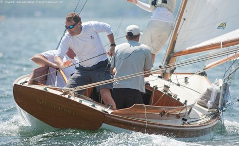 Herrershoff S Class Yacht Swallow at the NYYC 161st Regatta Newport, RI