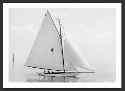 Vintage Sailboats - Anoatok - 1899 - Art Prints  for Home & Office Interiors