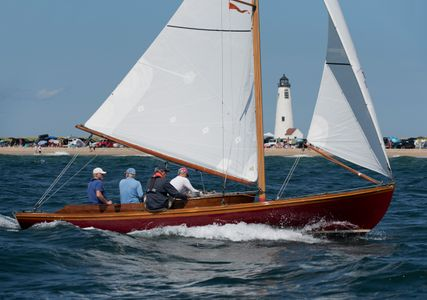 Alerion Bapple Passing  Great Point Light in Nantucket, MA