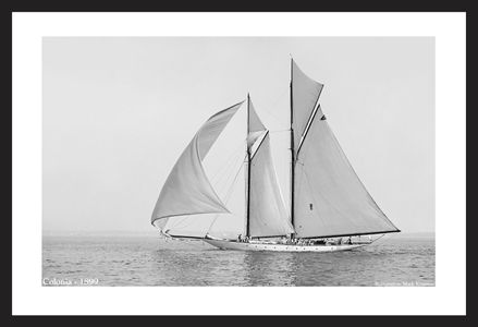 Sailing into the Past - Historic sailboat art print restorations - Colonia - 1899