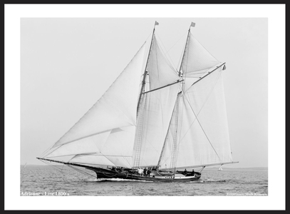 Vintage Sailboats - Adrienne - Late 1800's - Art Prints  for Home & Office Interiors