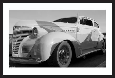 classic car black & white photography art print