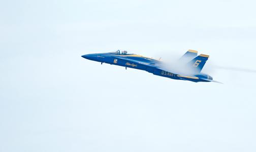 The Blue Angels F-18 Superhornets High Speed Vapor
