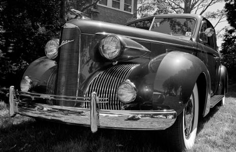 La Salle Classic car black & white photography art print