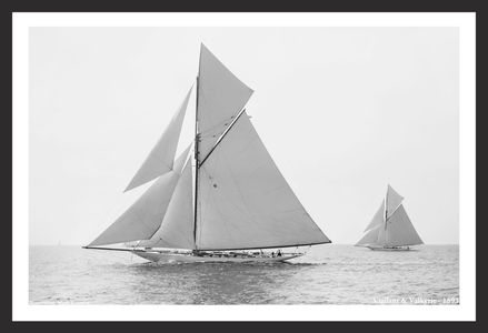 America's Cup Vintage Sailboats  Art Prints Collection