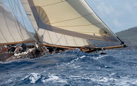The Bow of Herreshoff  Schooner Mary Rose