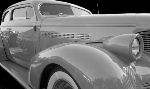Chevy Master Deluxe black & white photography classic car art print