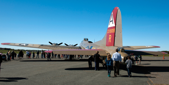Flying Fortress - B17 in Beverly for the Collings Foundation Wings of Freedom Tour