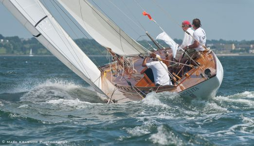 Classic 8 Metre Angelita at the NYYC 161st Annual Regatta