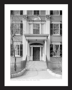 Wheatland Phillips House in Salem, MA 1900