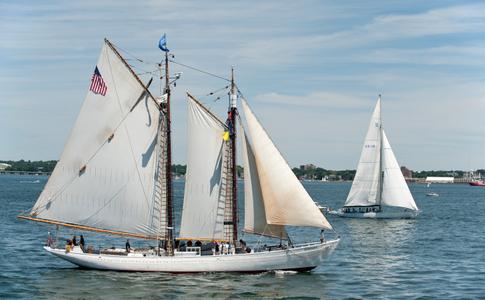 Schooner Bowdoin at Parade of Sail in Newport RI