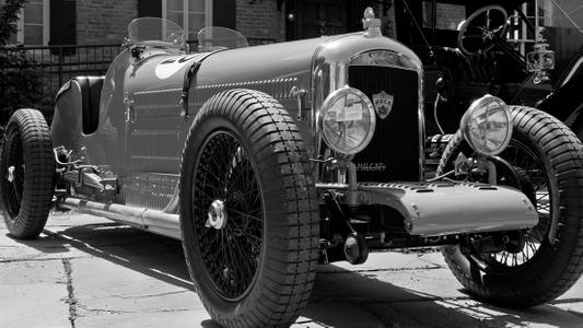 Amilcar sports car black & white art print