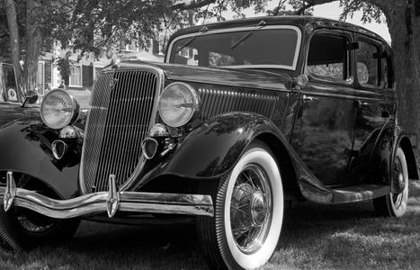 Vintage Ford Classic black & white photography art print