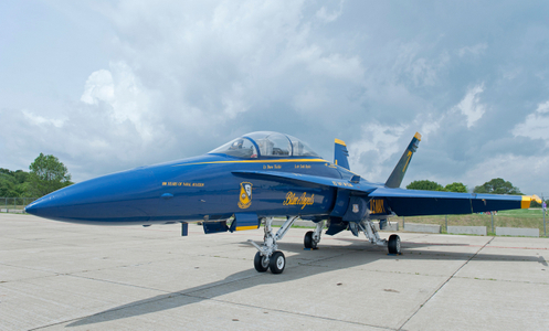 F-18 Blue Angels Superhornet on the Tarmac