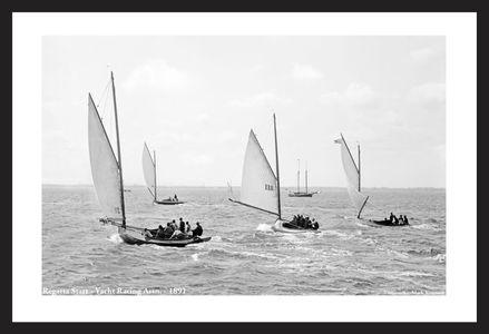 Vintage Sailboats - Regatta start 1891 - Art Prints  for Home & Office Interiors