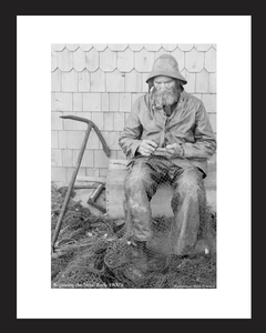 Old Seaman repairing nets in Gloucester