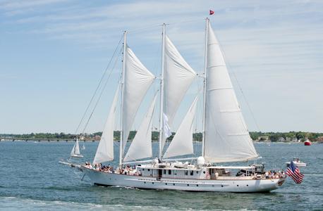 Schooner Arabella at Parade of Sail in Newport RI