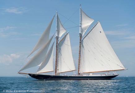 Schooner Columbia at the Candy Store Cup - Newport, Rhode island