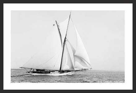Vintage sailboat art prints for home and office - Cinderella Late 1800's