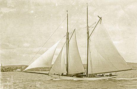 Comanche -1894 - Vintage Sailing Art Print Restoration