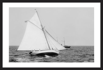 Awa 1892  - Vintage sailing photography art print restoration