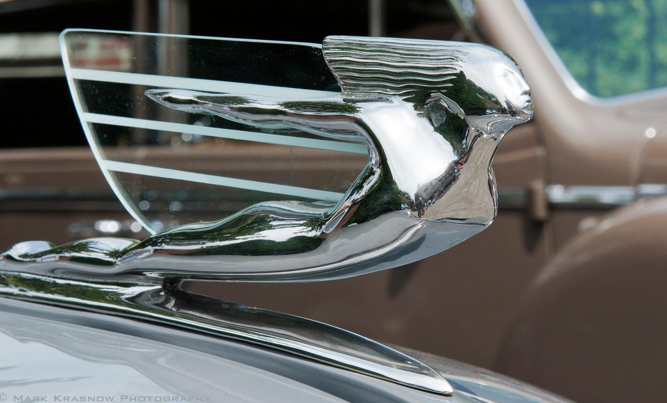 Vintage Cadillac Flying Woman Hood Ornamant