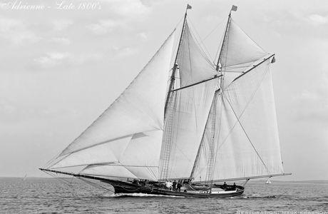 Adrienne - 1800s - Vintage Sailing Art Print Restoration