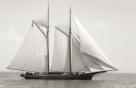 Nirvana 1891 - Vintage Restored Sailing Art Print