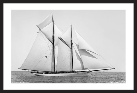 Merlin -1890  - Historic sailing photography art print restoration for decorating home and office
