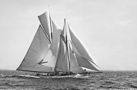Vintage Restored Sailing Art Print - Quisetta 1899