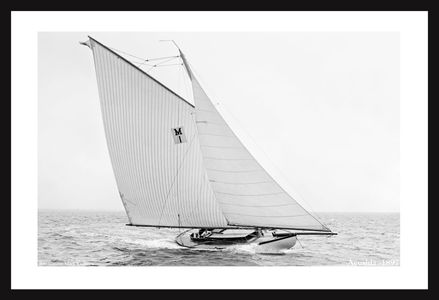 Acushla - 1897 - Antique sailing photographyart print restoration for  interior design