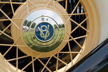 Classic car spoke wheels art print