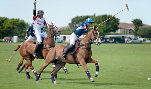 Polo match at the U.S. Open, Wellington, FL,  Coca-Cola and Lechuza
