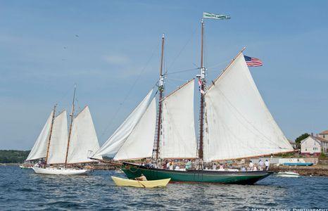 The Schooner Lannon Sailboat Art print
