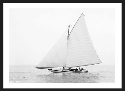 Alpha - 1892 - Vintage Sailboats for Home & Office Interiors