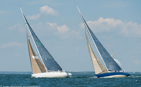 12 Metre Courageous and Victory '83 Racing at the NYYC Classic Regatta in Newport, RI