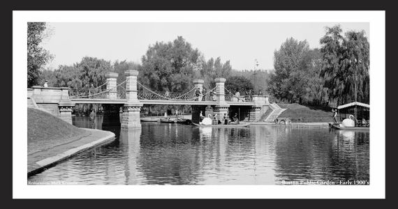 Swan Boats at Boston Common - Early 1900's