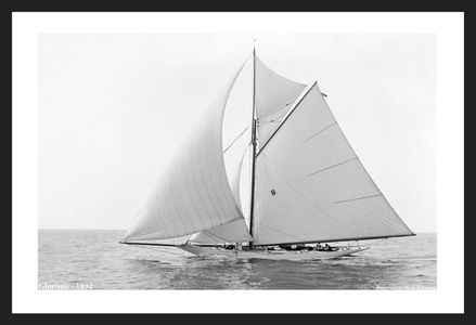 Vintage Sailboat Photo Restoration Art Prints - Gloriana 1892