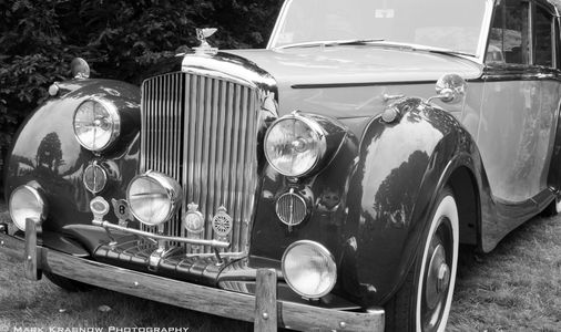 Bentley Classic Car B&W