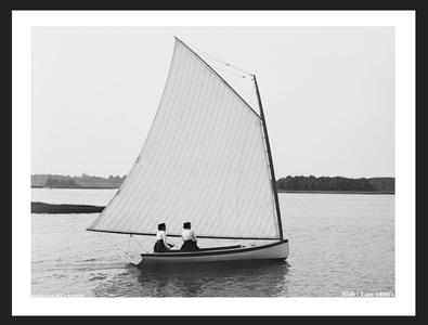 Mab - the late 1800's - Classic Sailboat Art Print